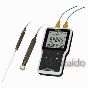FUSO 防水型デジタル2点式温度計 K熱電対センサ別売 TK-6200A