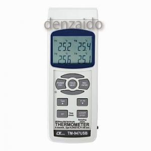 FUSO 4chUSBメモリースティックデータレコーダー温度計 TM-947USB