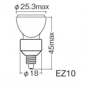 岩崎電気 【ケース販売特価 10個セット】 アイ ダイクロクールハロゲン コンパクトサイズ φ25 12V 20W 狭角 EZ10口金 JR12V20WUV/SK2EZ_set