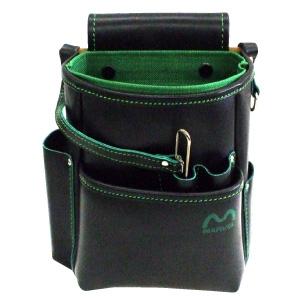 マーベル 電工ポケット ハイクォリティタイプ サイズ:縦235×横200×厚さ150mm グリーン MDP-210HG