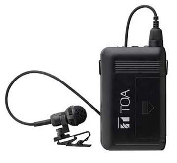 TOA 抗菌仕様 ワイヤレスマイク タイピン型 WM-1320