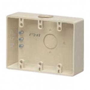未来工業 【お買い得品 10個セット】 露出スイッチボックス コネクタなし 3ヶ用 φ34mm×1 ベージュ PVR-ATJ_10set