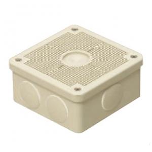 未来工業 【お買い得品 10個セット】 露出用四角ボックス 取付自在蓋 ケーブルブッシング付 ミルキーホワイト PV4B-ANFM_10set