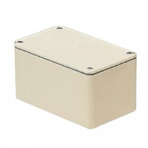 未来工業 防水プールボックス 平蓋 長方形 ノックなし 400×300×300 ベージュ PVP-403030AJ