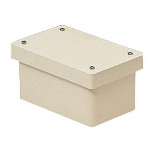 未来工業 防水プールボックス カブセ蓋 長方形 ノックなし 400×300×250 ベージュ PVP-403025BJ