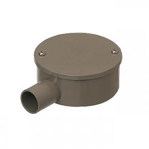 未来工業 【お買い得品 20個セット】 露出用丸型ボックス カブセ蓋 1方出 適合管:VE28 ライトブラウン PVM28-1KLB_20set
