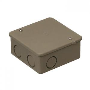 未来工業 【お買い得品 50個セット】 PVKボックス 中形四角深型 ノック付き チョコレート PVK-BNT_50set