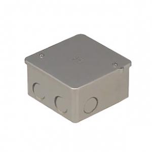 未来工業 【お買い得品 50個セット】 PVKボックス 中形四角浅型 ノック付き シャンパンゴールド PVK-ANCG_50set