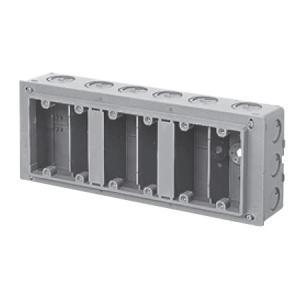 未来工業 【お買い得品 10個セット】 埋込スイッチボックス 塗代付 プラスチック製セーリスボックス 6個用 CSW-6N_10set