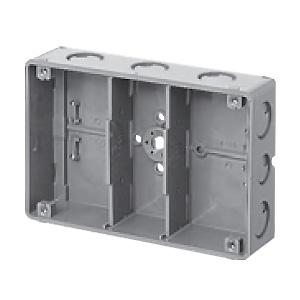 未来工業 【お買い得品 20個セット】 埋込スイッチボックス 塗代無 プラスチック製セーリスボックス 3個用 CSW-3N-O_20set