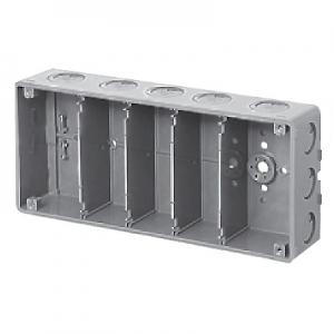 未来工業 【お買い得品 10個セット】 埋込スイッチボックス 塗代無 プラスチック製セーリスボックス 5個用 CSW-5N-O_10set
