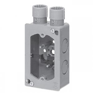 未来工業 【お買い得品 50個セット】 埋込みスイッチボックス ハブ付セーリスボックス 平塗代カバー付 CD単層波付管16(1方出2個口)適合 CDO-16SWGF_50set