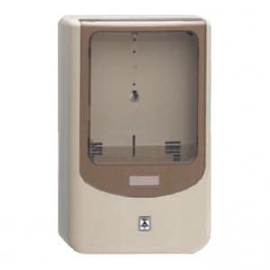 未来工業 【お買い得品 5個セット】 電力量計ボックス バイザー付 1個用 VE22・28用 ベージュ×スモークブラウン WPN-2J_5set