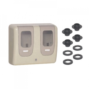 未来工業 【お買い得品 3個セット】 電力量計ボックス 隠ぺい型 屋外用 2個用 ベージュ WPR-3WJ_3set