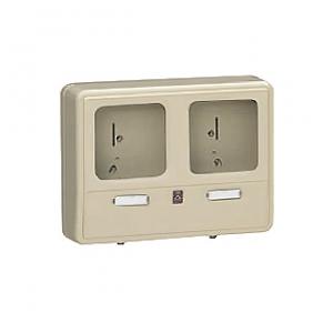 未来工業 【お買い得品 6個セット】 電力量計ボックス 化粧ボックス 2個用 ベージュ 全関東電気工事協会「優良機材推奨認定品」 WP-0WJ-Z_6set