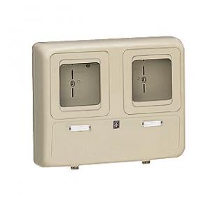 未来工業 【お買い得品 6個セット】 電力量計ボックス 化粧ボックス 2個用 ベージュ 全関東電気工事協会「優良機材推奨認定品」 WP-2WJ-Z_6set