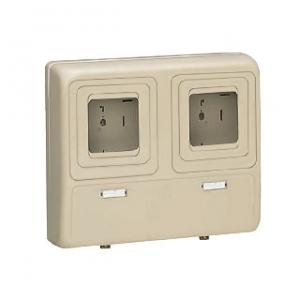 未来工業 電力量計ボックス 化粧ボックス 2個用 ライトブラウン 全関東電気工事協会「優良機材推奨認定品」 WP-3WLB-Z