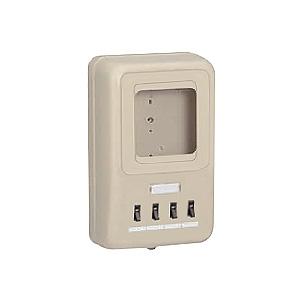 未来工業 【お買い得品 5個セット】 電力量計ボックス 分岐ブレーカ付 回路:1 適用:1個用 ミルキーホワイト WP4-201M_5set