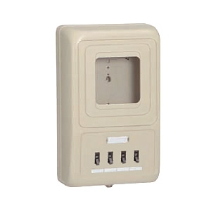 未来工業 電力量計ボックス 分岐ブレーカ付 ベージュ WP4-304J