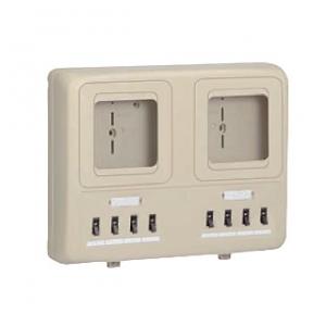 未来工業 【お買い得品 6個セット】 電力量計ボックス 分岐ブレーカ付 ベージュ WP4W-201J_6set