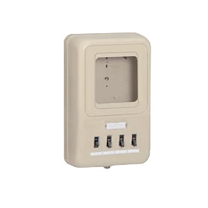 未来工業 電力量計ボックス 分岐ブレーカ・ELB付 ミルキーホワイト WP2-203HKM