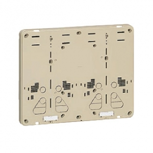 未来工業 【お買い得品 10個セット】 積算電力計取付板 2個用 カードホルダー付 ベージュ 全関東電気工事協会「優良機材推奨認定品」 B-2WJ-Z_10set