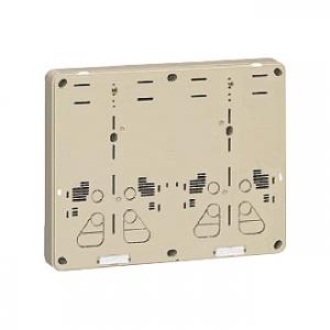 未来工業 【お買い得品 5個セット】 積算電力計取付板 2個用 カードホルダー付 ライトブラウン B-2WHLB_5set