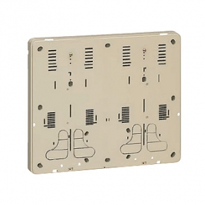 未来工業 【お買い得品 5個セット】 積算電力計・計器箱取付板 ライトブラウン BP-3WLB_5set