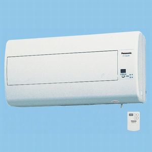 パナソニック 気調・熱交換形換気扇 壁掛形・1パイプ式 排湿形 リモコンスイッチ式 電気式シャッター 色=ホワイト 寒冷地仕様 FY-16ZJB1-W