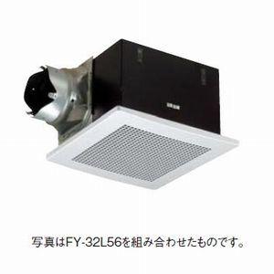 パナソニック 天井埋込形換気扇 排気・強-弱 低騒音・特大風量形 鋼板製本体・左排気 ルーバー別売タイプ 埋込寸法:320mm角 適用パイプ径:φ150mm FY-32BK7H