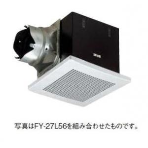 パナソニック 天井埋込形換気扇 排気 消音形 消音材組込 鋼板製本体 ルーバー別売タイプ 埋込寸法:270mm角 適用パイプ径:φ150mm FY-27BN7