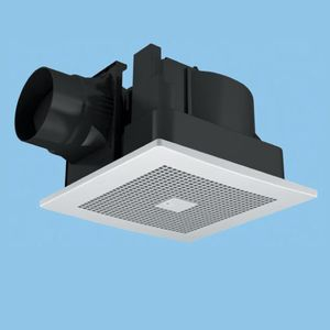 パナソニック 天井埋込形換気扇 排気 低騒音形 人感自動運転形 常時換気付 樹脂製本体 ルーバーセットタイプ 埋込寸法:320mm角 適用パイプ径:φ150mm FY-32CR7V