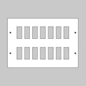 パナソニック 新金属リモコンスイッチプレート 2段 8連型 64コ用 スイッチ取付金具付 WR3520641