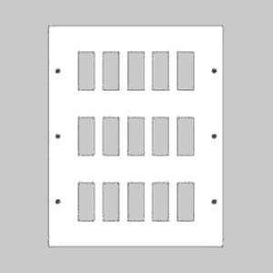 パナソニック 新金属リモコンスイッチプレート 3段 5連型 60コ用 スイッチ取付金具付 WR3530601