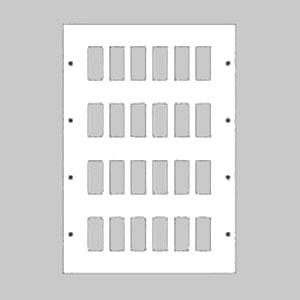 パナソニック 新金属リモコンスイッチプレート 4段 6連型 96コ用 スイッチ取付金具付 WR3540961