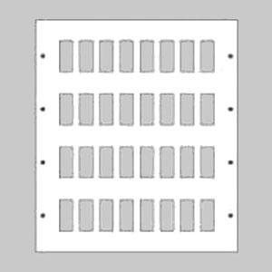 パナソニック 新金属リモコンスイッチプレート 4段 8連型 128コ用 スイッチ取付金具付 WR3541281