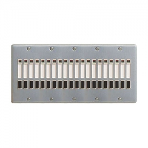 パナソニック 2線式リモコンセレクタスイッチ 20回路 横型 新金属プレート付 WR6420