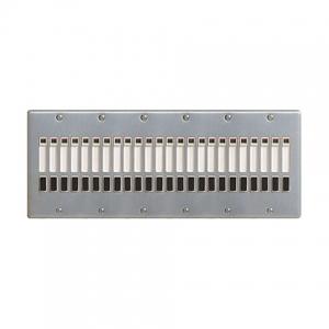 パナソニック 2線式リモコンセレクタスイッチ 24回路 横型 新金属プレート付 WR6424