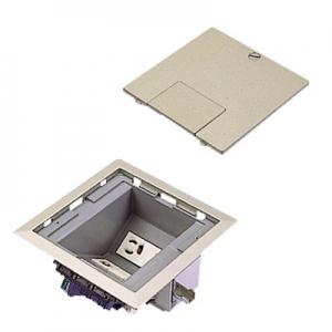 パナソニック マルチフロアコンスクエア マルチメディアユニット L型 電源×2 映像×2 電話×2 LAN×1 ブランクチップ×1 グレーメタリック DUM6362MH