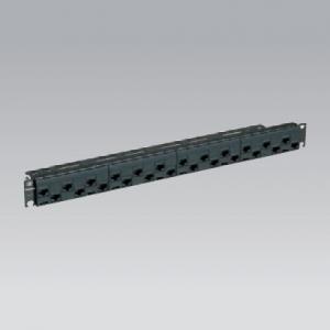 パナソニック モジュラ型パッチパネル モジュールタイプ 24ポート CAT6 ブラック NR21228B