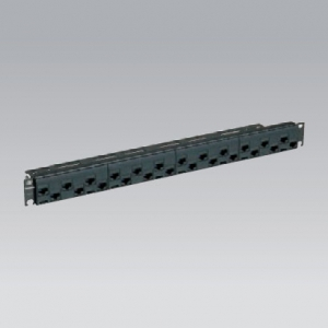 パナソニック モジュラ型パッチパネル モジュールタイプ 24ポート CAT5E ブラック NR21227B