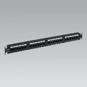 パナソニック モジュラ型パッチパネル 110タイプ 24ポート CAT6 ブラック NR21326B