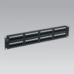 パナソニック モジュラ型パッチパネル 110タイプ 48ポート CAT6 ブラック NR21346B