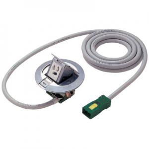 パナソニック ハーネス用アップコン 丸型 ビルトインタイプ 電力用 1コ口 アルミ製 ケーブル長3m 15A 125V NE71125WGL
