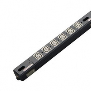 明工社 200Vコンセントバー 19インチラック用 30A 250V C13×24コ口 20A安全ブレーカ×2(12×2分岐)付 ME8711