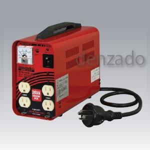 日動工業 降圧専用トランス 200V→100V 単巻トランス 連続定格 安全ブレーカ付 リングトランス 30A RTB-300D-100V