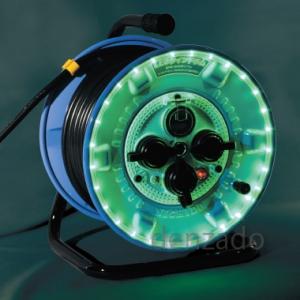 日動工業 LEDラインドラム 漏電保護専用 15mA感度 30m 防雨型 グリーン NPWL-EB33-G