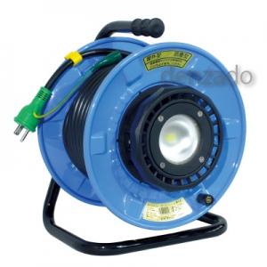 日動工業 LEDライトリール 防雨型 20m ポッキンプラグ付 SDW-E22-10W