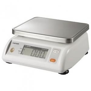 カスタム デジタル防水はかり IP65準拠 ステンレス皿付 秤量10kg CS-10KWP