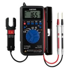 カスタム クランプ付デジタルマルチメータ 測定機能(直流・交流電圧、直流・交流電流、抵抗、導通チェック、ダイオードテスト、周波数、DUTYチェック、コンデンサチェック) MC-01U